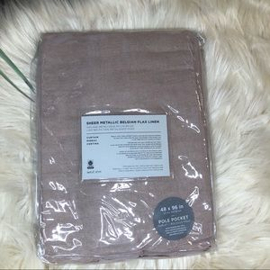 West Elm sheer metallic belgian flax linen 48x96